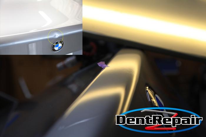 BMW5シリーズトランクのへこみ、修理後の写真