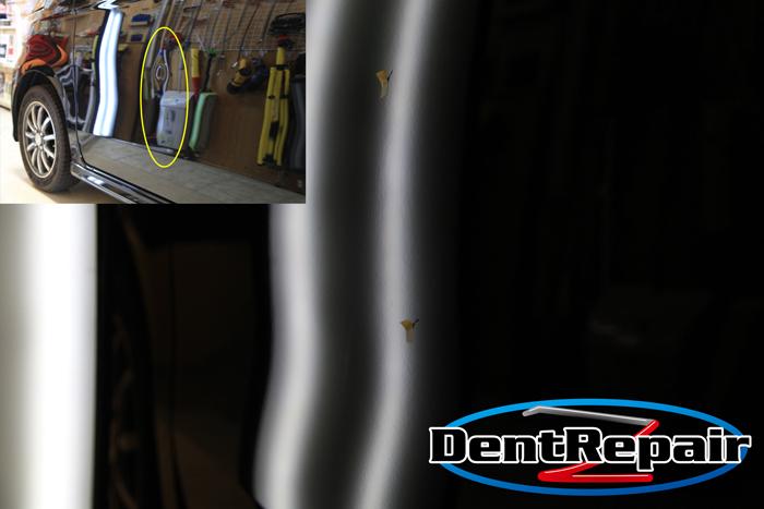 N WGN助手席ドアのへこみ、修理後の写真