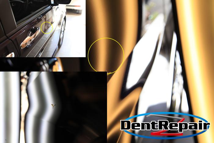 ステップワゴン運転席ドアとスライドドアのへこみ、修理後の写真