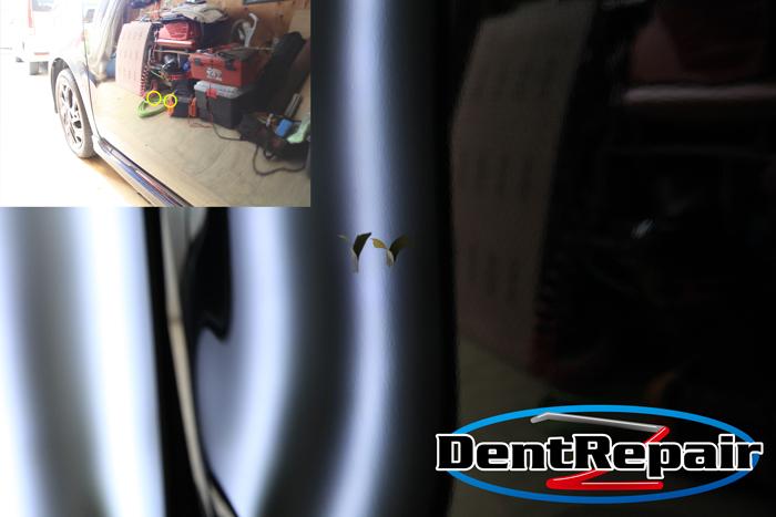 N-WGN助手席ドアのへこみ、修理後の写真